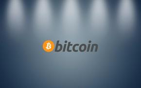 Picture light, wall, the inscription, wall, fon, gray, bitcoin, btc