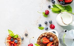 Picture berries, strawberry, dessert, Tiramisu
