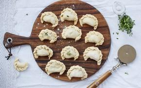 Picture the dough, Board, dumplings
