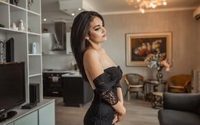 Picture model, A Diakov George, dress black