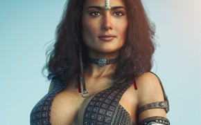 Picture chest, girl, rendering, beauty, Tits, Salma Hayek