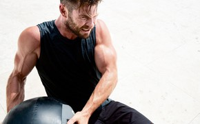 Picture look, actor, model, pose, athlete, Chris Hemsworth, Chris Hemsworth, biceps, workout, fitness, abs, crossfit, training …