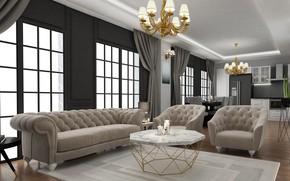 Picture design, rendering, room, art, ahmet bozdag, livingroom desing
