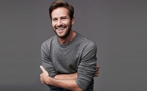 Picture smile, background, guy, Armie Hammer