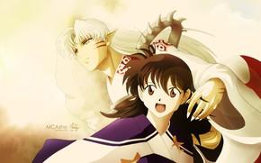Picture art, Rin, inuyasha, Inuyasha, Seshoumaru