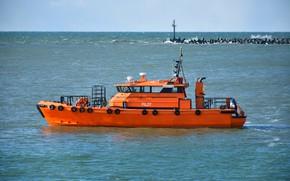 Picture boat, Baltika, a pilot