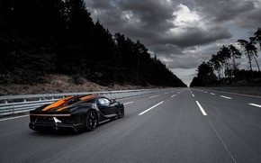 Picture asphalt, trees, Bugatti, track, hypercar, Chiron, Super Sport 300+