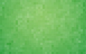 Picture background, Wallpaper, green, pixels, square