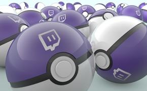 Picture ball, emblem, pokeball, the website, stream, pokebol, twitch, stream, twitch