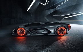 Picture Lamborghini, supercar, side view, hypercar, The Third Millennium
