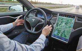 Picture Tesla, Model S, autonomous driving, electric vehicle