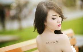 Picture girl, tattoo, Asian