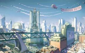 Picture Figure, The city, The game, Fallout, Art, Boston, Concept Art, Ilya Nazarov, Fallout 4, Boston …