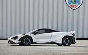 Picture white, McLaren, in profile, 2020, 765LT