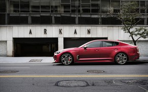 Picture red, garage, Kia, the five-door, Stinger, Stinger GT, fastback