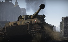 Picture tower, Tiger, War, Tank, War Thunder, Ground Forces
