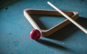 Wallpaper ball, Billiards, cue