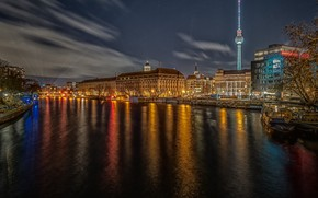 Picture night, lights, Germany, Berlin