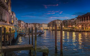 Picture lights, home, the evening, Italy, Venice, channel