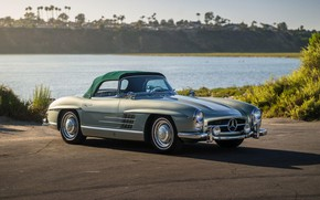 Picture Roadster, Roof, Mersedes Benz 300SL, Classic car