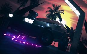 Picture Auto, Music, Machine, Style, DeLorean DMC-12, Art, Art, 80s, Style, DeLorean, DMC-12, Neon, Illustration, Concept …
