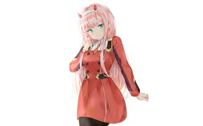 Picture girl, candy, 002, Darling In The Frankxx, Cute in France, Zero Two