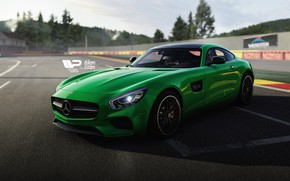 Picture Auto, Green, Machine, Mercedes, AMG, Mercedes AMG, Forza Motorsport, Game Art, Transport & Vehicles, Mercedes …