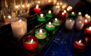Picture memory, candles, all saints day