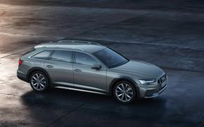 Picture Audi, side view, Quattro, universal, 2019, A6 Allroad