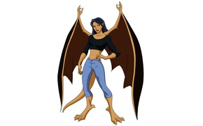 Picture wings, being, wings, the animated series, TV series, animated series, gargoyles, Gargoyles, Elisa Maza, ELISA …