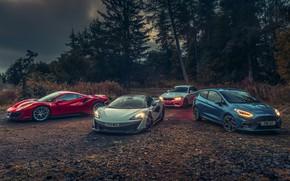 Picture McLaren, Ford, BMW, Ferrari, Focus, 488, 570S, M2