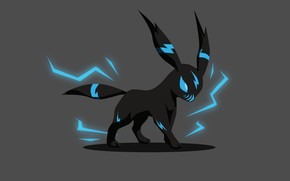Picture background, black, minimalism, Pokemon, Pokemon