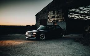 Picture sunset, BMW, hangar