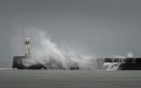 Picture sea, landscape, wave, lighthouse