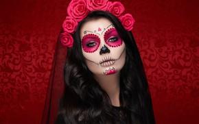 Picture makeup, Oleg Gekman, makeup, Halloween, girl