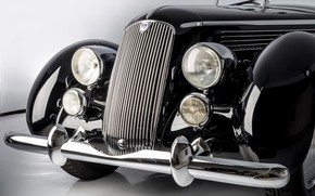 Picture Convertible, Bumper, Lights, Classic, Lancia, Chrome, Classic car, Icon, 1936, Grille, Lancia Astura Cabriolet, Type …