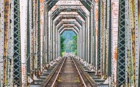 Picture bridge, rust, rail road