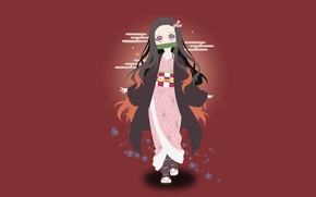 Picture Nezuko Kamado, Demon Slayer Kimetsu no Yaiba, The Blade Cleaves Demons