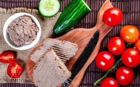 Picture Board, vegetables, tomatoes, sandwiches, pate