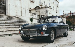 Picture auto, retro, transport, Car, car, retro, oldtimer, Antique, MG, MGB Roadster