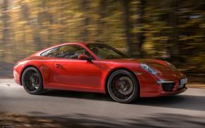 Picture Red, Auto, Road, Porsche, Machine, Render, Carrera, Rendering, Sports car, Porsche 911 Carrera, Transport & …