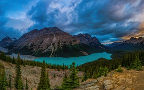 Picture forest, mountains, Canada