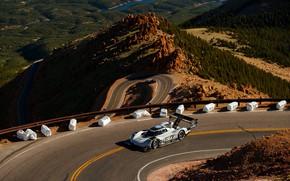 Picture mountains, track, Volkswagen, prototype, prototype, 2019, I.D. R
