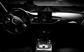 Picture landscape, machine, Audi, cars, c7, A6