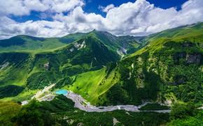 Picture the sky, clouds, mountains, Georgia, Mtskheta-Mtianeti, Gudauri