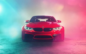 Picture Red, Auto, Smoke, BMW, Machine, Car, Car, Render, BMW M3, Rendering, The front, Red, Transport …