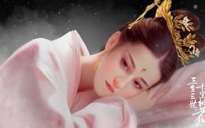 Picture Girl, Figure, Face, Asian, Girl, Art, Beautiful, Art, Asian, Beautiful, Face, by Hongfa Yin, Hongfa ...