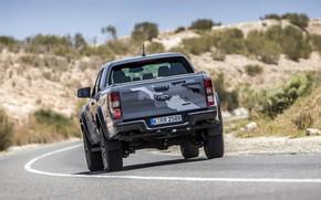 Picture road, grey, markup, Ford, Raptor, pickup, Ranger, 2019