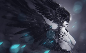 Picture Girl, Style, Helmet, Wings, Fantasy, Art, Art, Fiction, Concept Art, Characters, Wings, Valkyrie, Mythology, Soufiane …