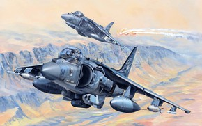 Picture Attack, AV-8B Harrier II, US Marines, Aircraft vertical takeoff and landing
